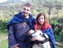 Macánta Fia Lufar y Alella Pixie con su pequeña Erin antes de su Nombramiento <3 Nos partió el corazón a todxs!